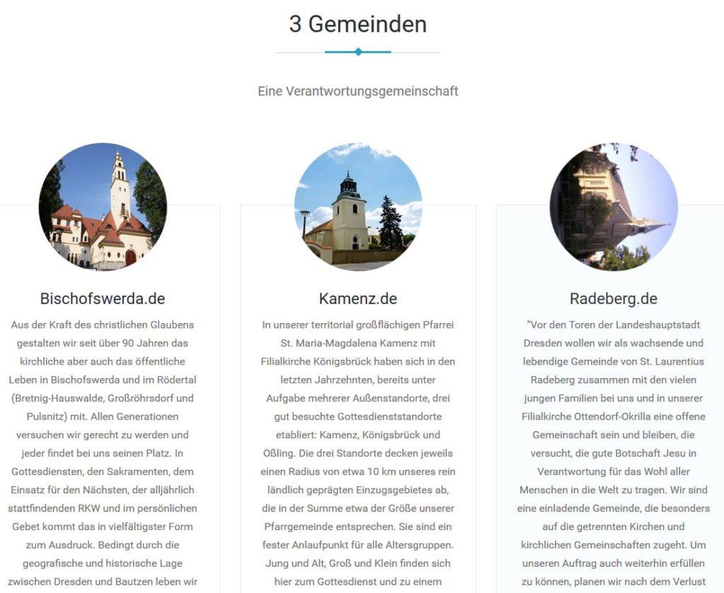 Kirche Wordpress Webdesign Bischofswerda