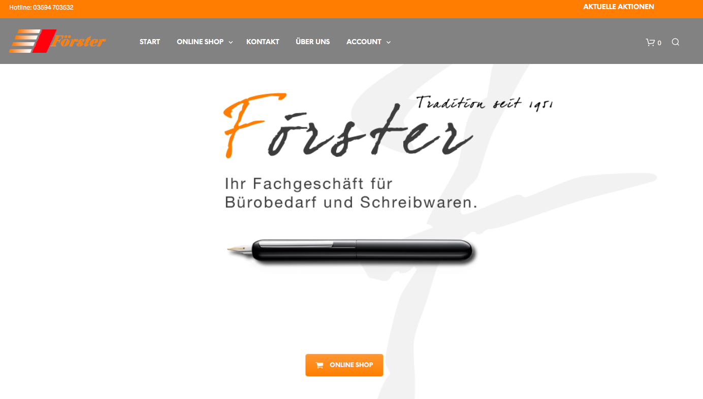 Schreibwaren Foerster Onlineshop