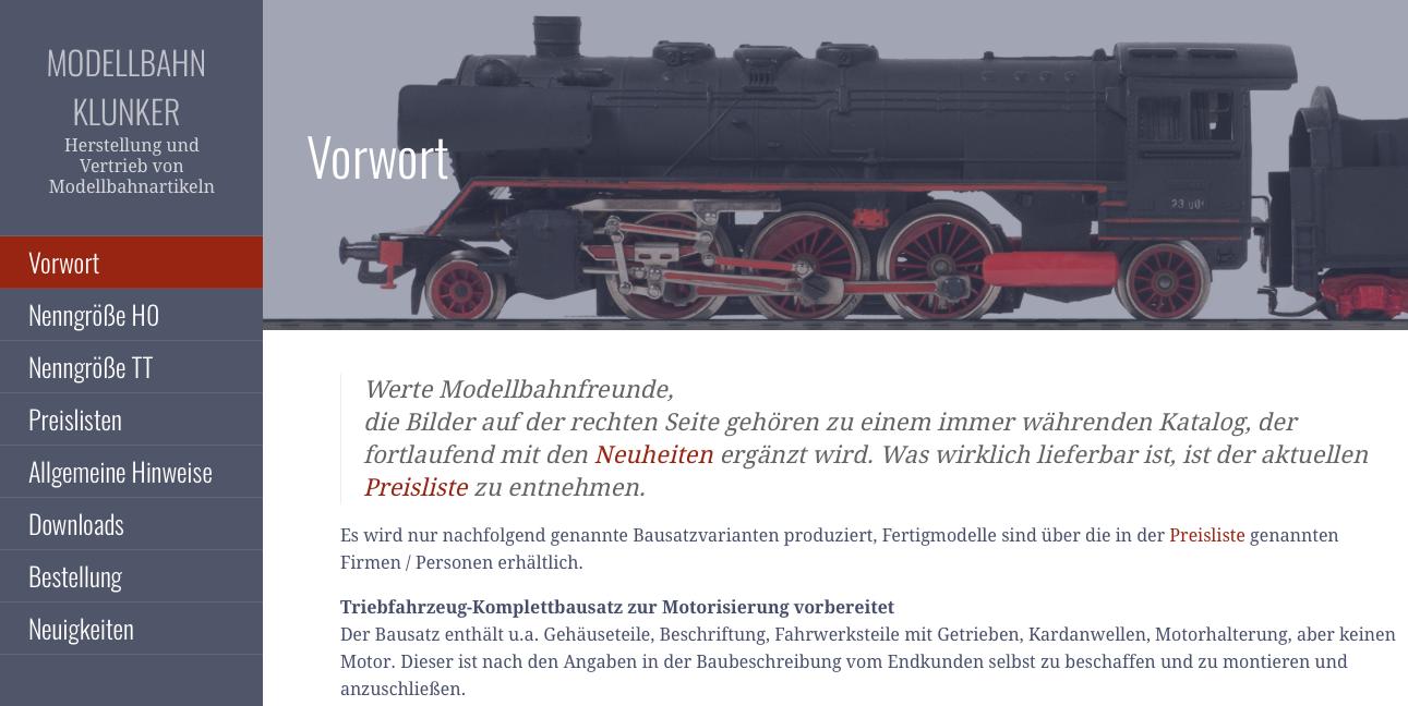 Modellbahn Klunker